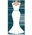 Каталог свадебных платьев русалка