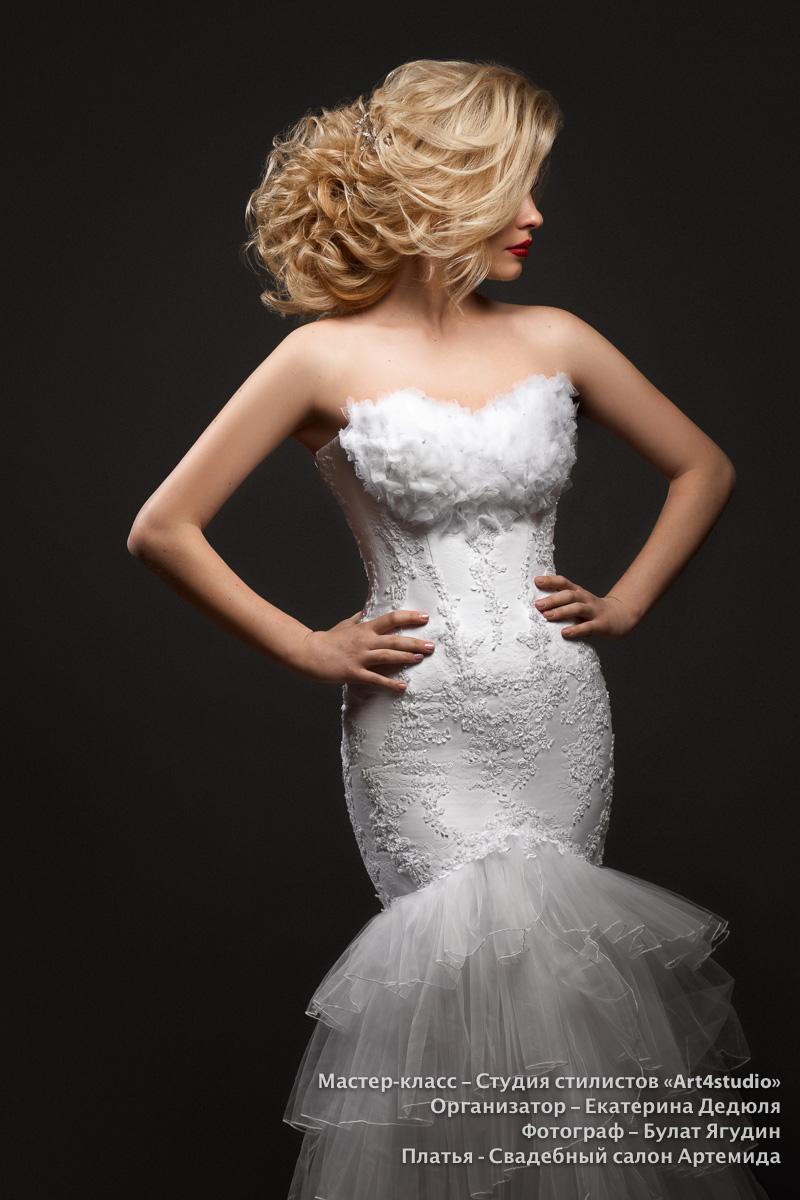 Свадебный платья в Минске, мастер-класс по свадебным прическам