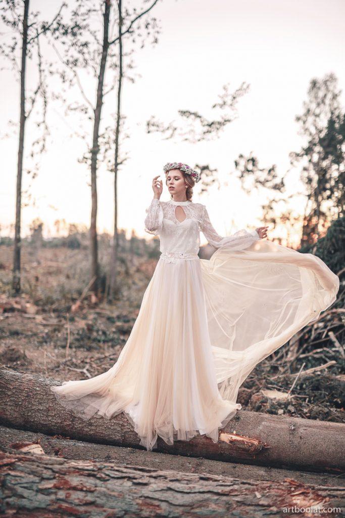 Свадебные платья в стиле нимфы