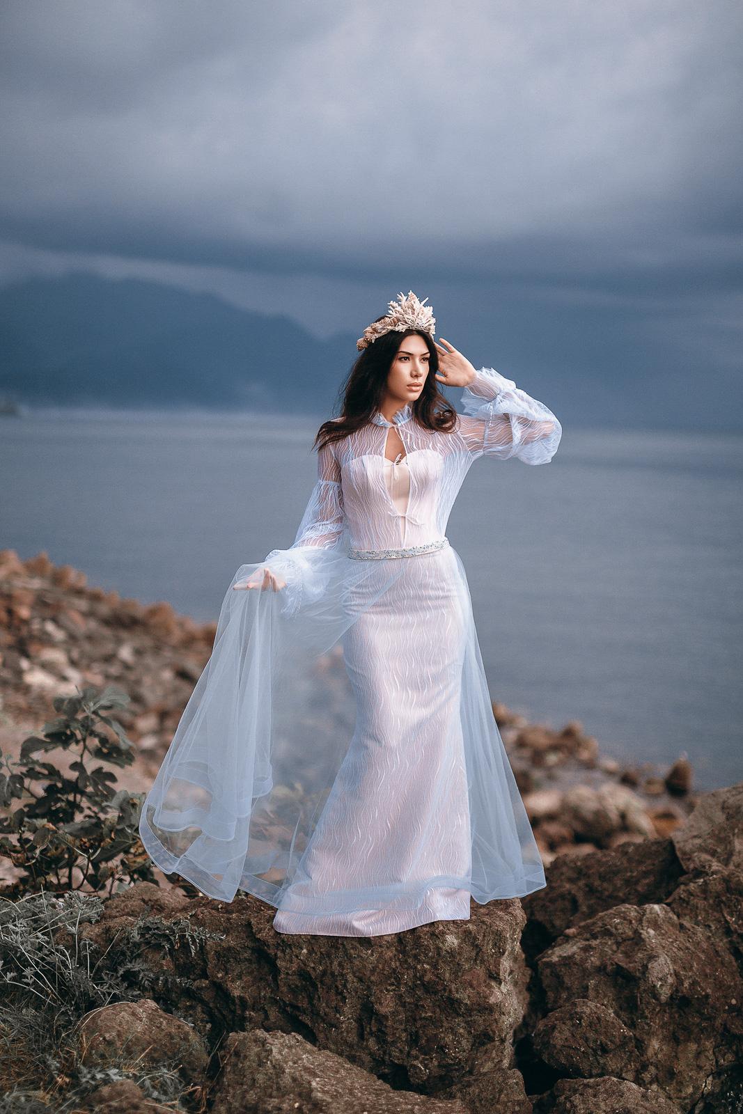 Платье свадебное короткое прокат