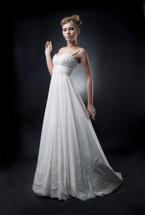 Свадебное платье греческого силуэта на животик купить в прокат в Минске