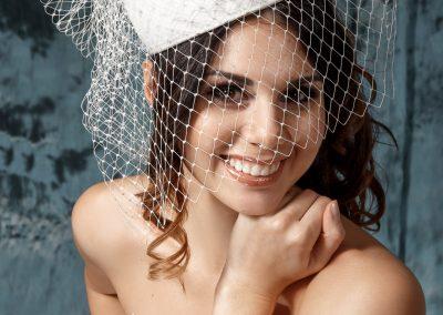 Винтажная свадебная шляпка