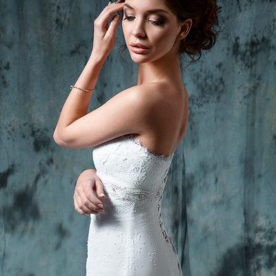 Кружевное свадебное платье Греческого силуэта купить Минск