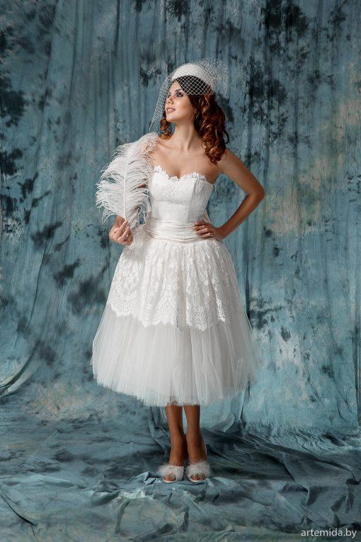 Винтажные короткое пышное свадебное платье напрокат в минске. Свадебное платье на плоские бедра прокат Минск