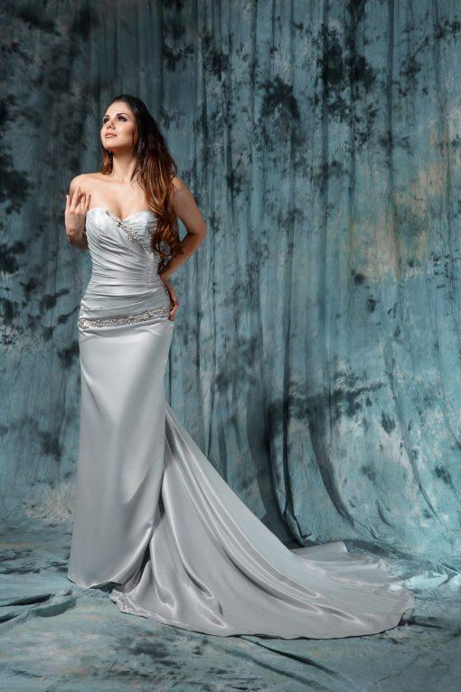 Шикарное серое свадебное платье пошив в Минске