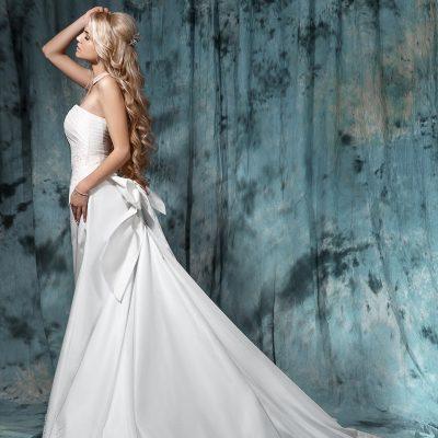 Белое свадебное платье со шлейфом пошив Минск