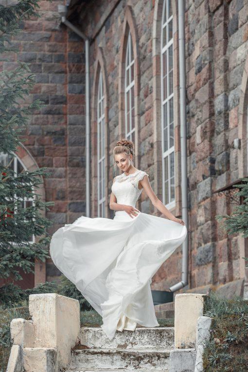 Шелковое свадебное платье на заказ в Миске