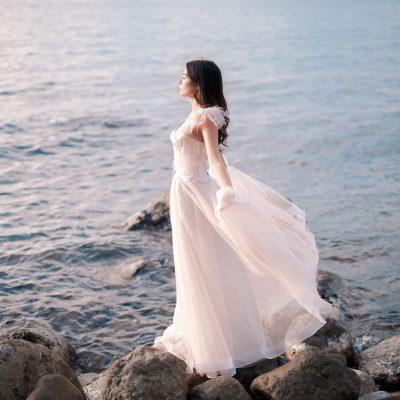 Сиреневое свадебное платье купить в Минске