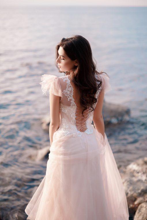 Малиновое свадебное платье на заказ в Минске