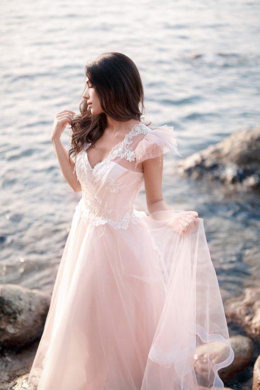 Свадебное платье цвета пудры Минск