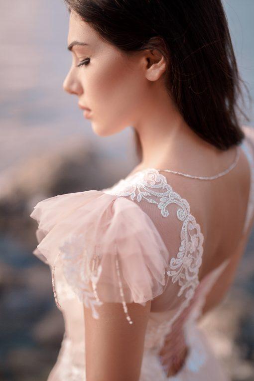 Роскошное розовое свадебное платье в Минске