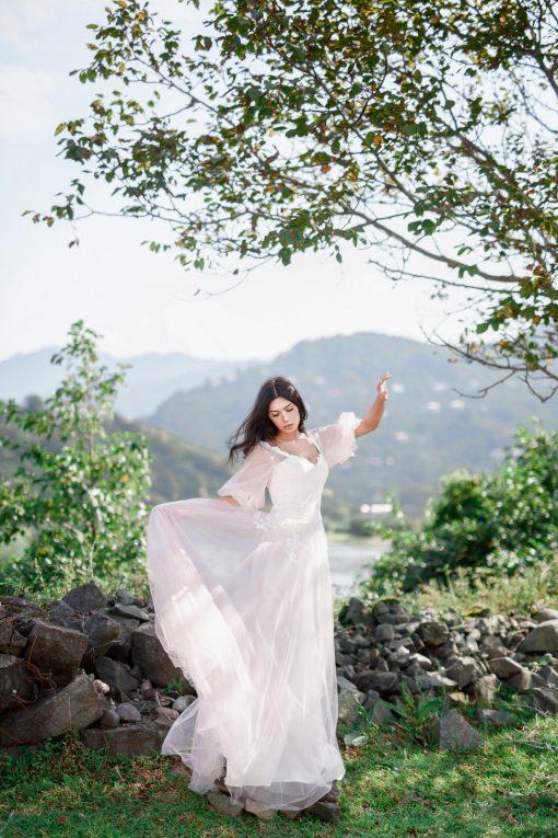 розовое свадебное платье купить в минске