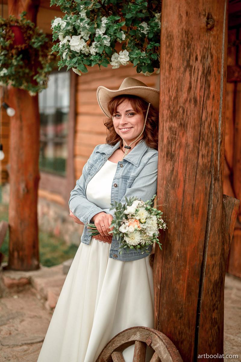 Свадебное платье в стиле кантри