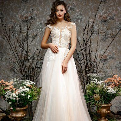 Свадебное платье напрокат в Минске цвета пудры