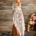 платок для венчания, кружевной палантин